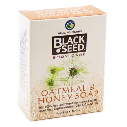 Oatmeal and Honey Soap by Amazing Herbs - 4.25 Ounces
