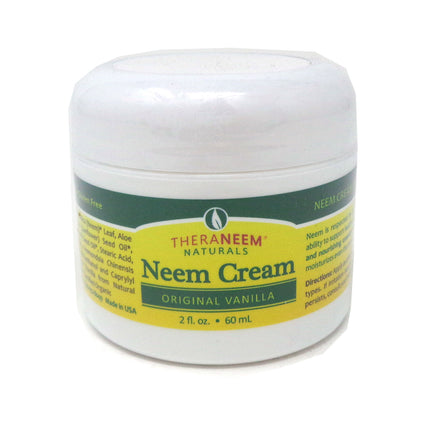 Neem cream Orignal Vanilla by Theraneem Naturals - 2 Fluid Ounces