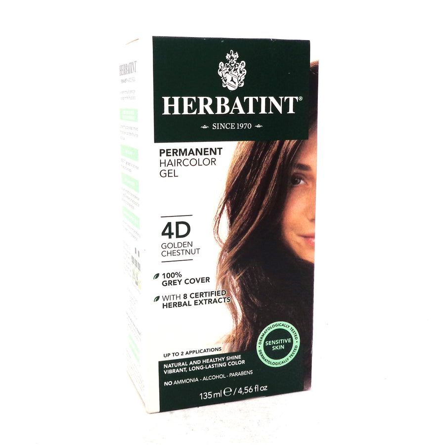 Herbal Hair Color (4D Golden Chestnut) By Herbatint Hair Products