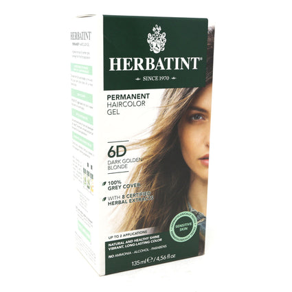Herbal Hair Color (6D Dark Golden Blonde) By Herbatint Hair Products