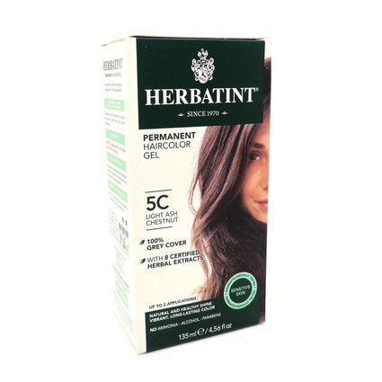 Herbal Hair Color (5C Light Ash Chestnut) By Herbatint Hair Products