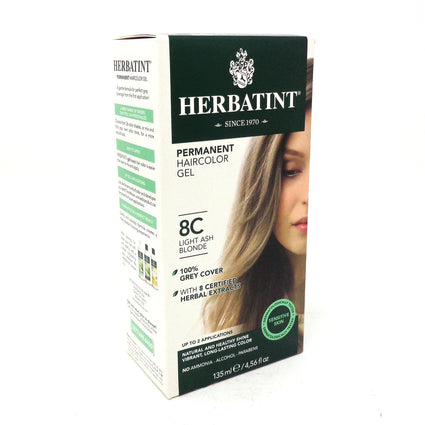 Herbal Hair Color (8C Light Ash Blonde) By Herbatint Hair Products