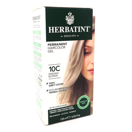 Herbatint Permanent Haircolor 10C Swedish Blonde - 4.56 fl oz