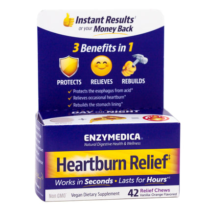 Enzymedica Heartburn Relief  - 42 Chews
