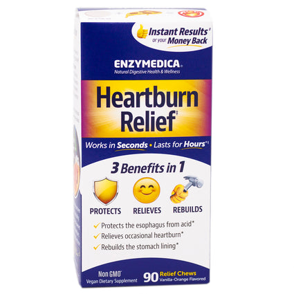 Enzymedica Heartburn Relief  - 90 Chewables