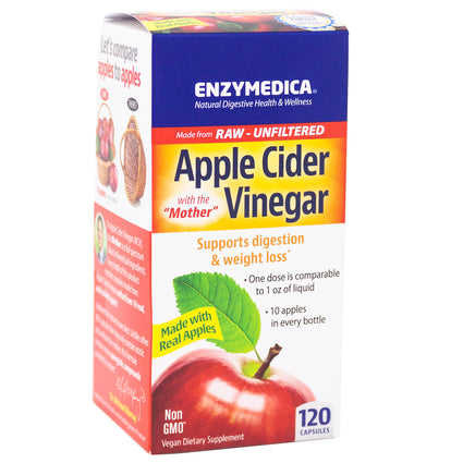 Enzymedica Apple Cider Vinegar -120 Capsules