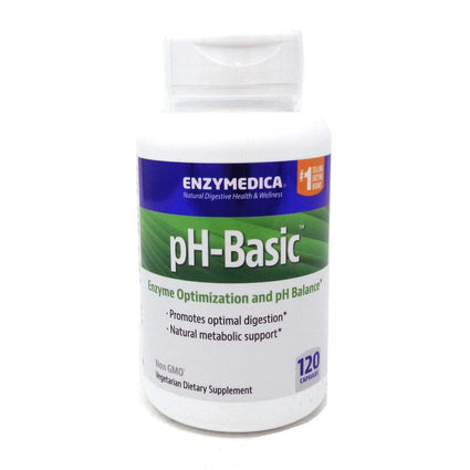 pH-Basic Enzymes By Enzymedica - 120 Enteric Coated Capsules