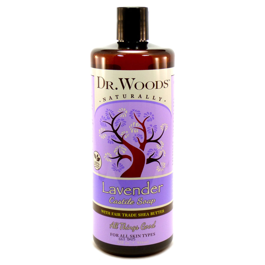 Lavender Castile Soap with Shea Butter by Dr. Woods 32 Ounces