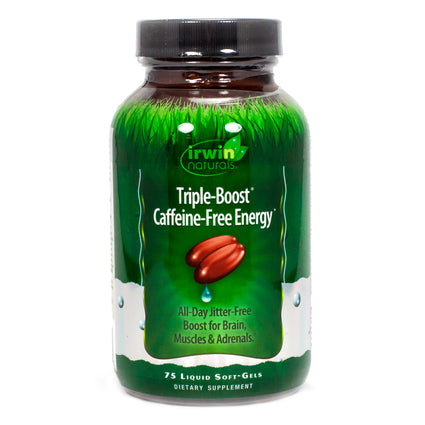 Triple-Boost Energy Caffeine Free By Irwin Naturals - 75 Softgels