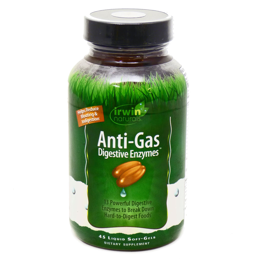 Anti-Gas Digestive Enzymes by Irwin Naturals - 60 Softgels