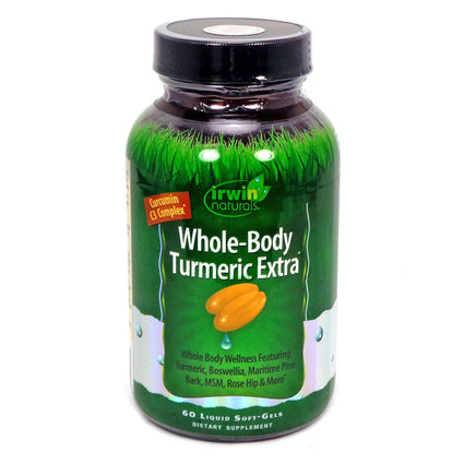 Irwin Naturals Whole-Body Turmeric Extra  - 60 Liquid Soft-Gels