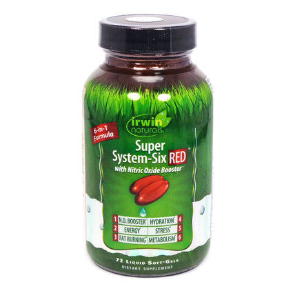 Irwin Naturals Super System-Six Red  - 72 Softgels
