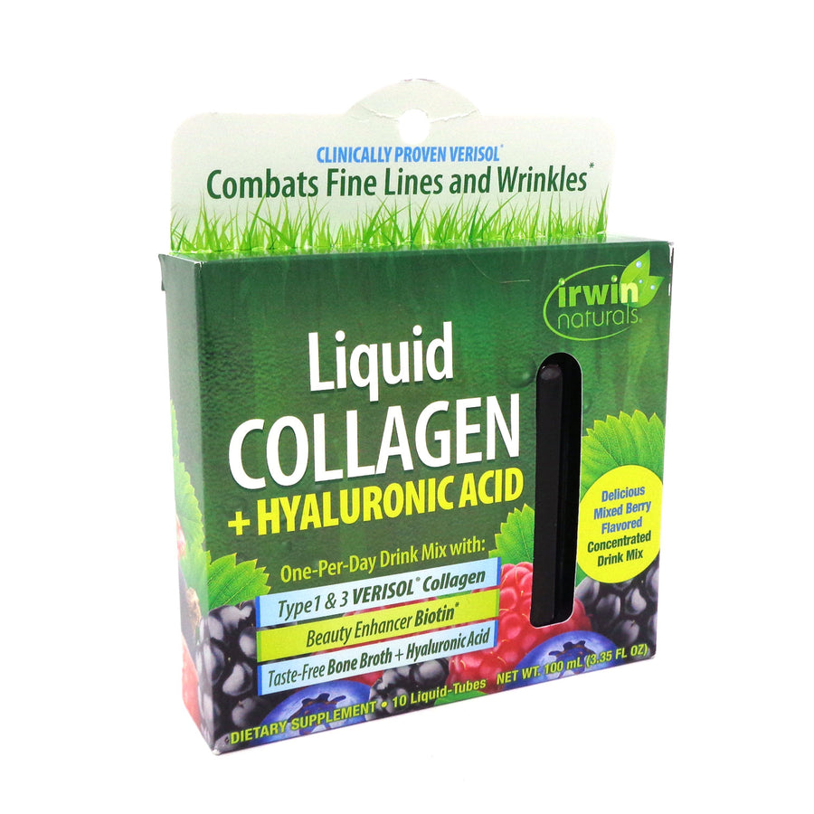 Irwin Naturals Liquid Collagen+Hyaluronic Acid 10 Liquid-Tubes