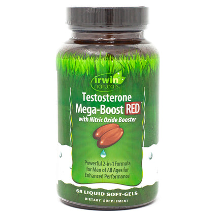 Irwin Naturals Testosterone Mega Boost Red - 68 Gels