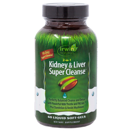 Irwin Naturals 2-in-1 Kidney and Liver Super Cleanse  - 60 Softgels