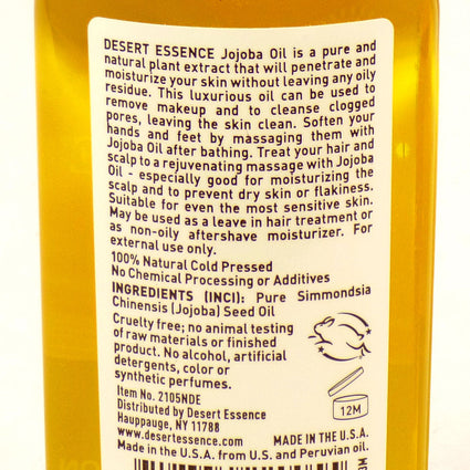 Jojoba Oil 100% Pure By Desert Essence - 2 Ounces