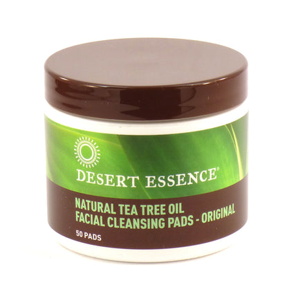 Tea Tree Facial Cleansing Pads By Desert Essence - 50 Pads