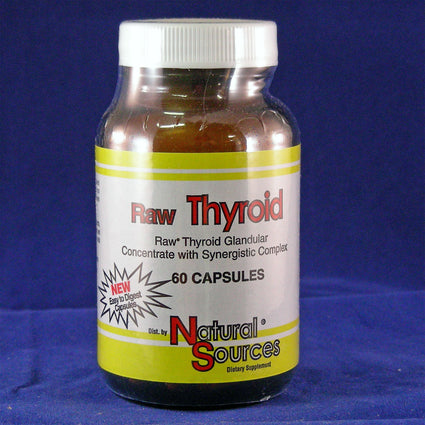 Raw Thyroid By Natural Sources - 60 Capsules