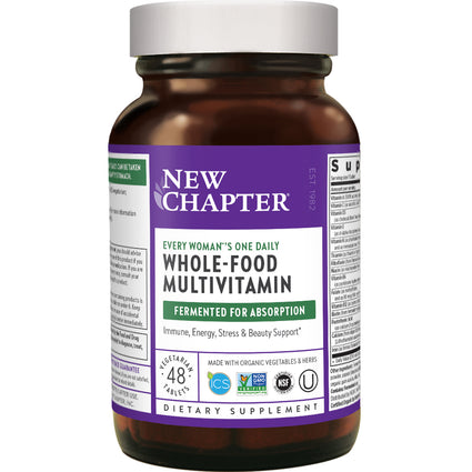 Every Woman's One Daily Whole Food Multi By New Chapter - 48 Tablets
