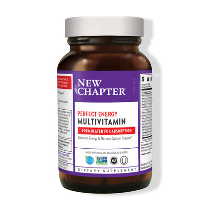 Perfect Energy Multivitamin by New Chapter - 96 Tablets