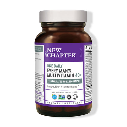 40 plus Every Man One Daily Multi by New Chapter - 96 Tablets