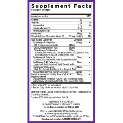 Wholemega 1000 mg  By New Chapter - 144 Softgels