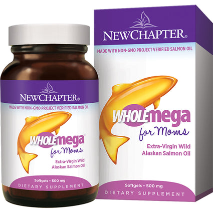 Clearance Wholemega for Moms Prenatal By New Chapter - 90 Softgels Exp 4/30/2020