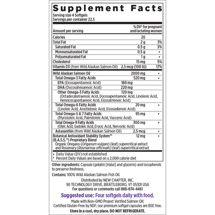 DENTED Wholemega for Moms Prenatal By New Chapter - 90 Softgels