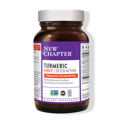 New Chapter Turmeric Force Detox Action  - 60 Capsules
