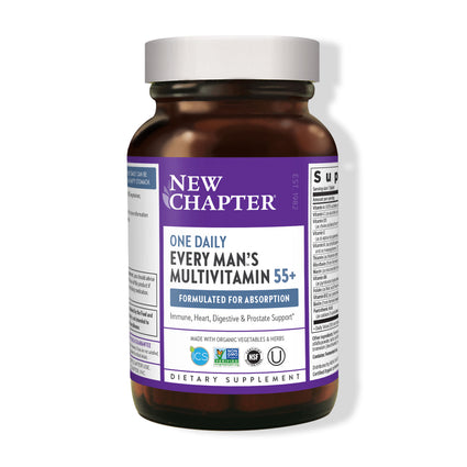 New Chapter Every Mans 55 Plus One Daily Multi - 90 Veg Tablets