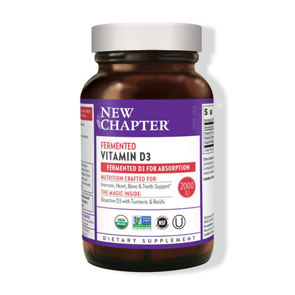 New Chapter Fermented Vitamin D3 - 60 Tablets