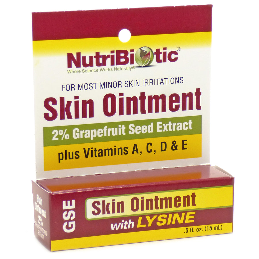 Grapefruit Seed Extract and Lysine Skin Ointment By Nutribiotic - .5 Ounce