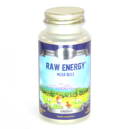 Mega Buzz Raw Energy Timed Release By Premier One - 60  Capsules