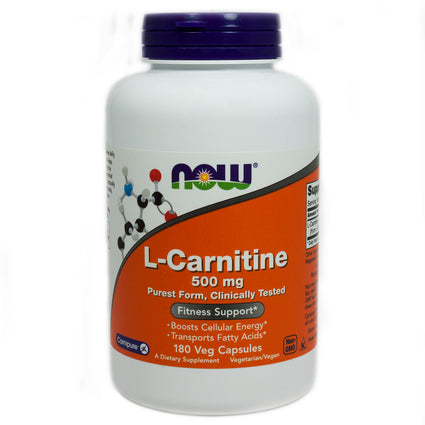 L-Carnitine 500 mg by Now Foods 180 Capsules