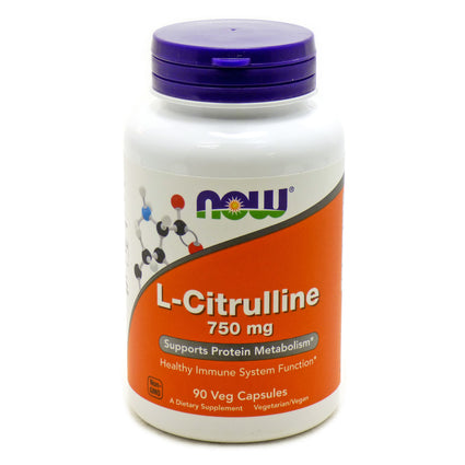 L-Citrulline 750 mg by Now Foods 90 Capsules