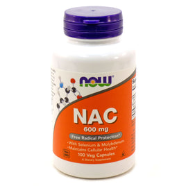 NAC 600 mg N-Acetyl Cysteine by Now Foods 100 Capsules