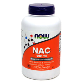 NAC 600 mg By Now Foods - 250 Vcaps