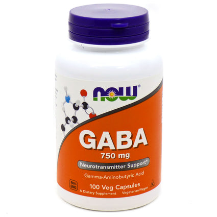 Gaba 750mg  by Now Foods - 100 Capsules