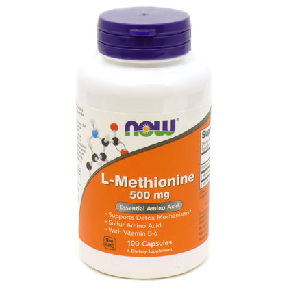 L-Methionine 500Mg By Now Foods - 100 Caps