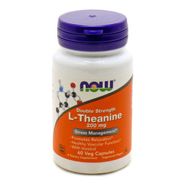 L-Theanine 200 mg Suntheanine by Now Foods 60 Vegetarian Capsules