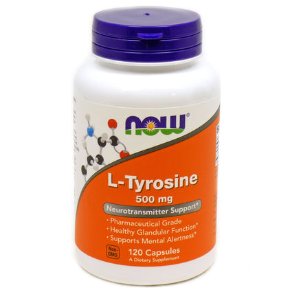 L-Tyrosine by Now Foods - 120 Capsules