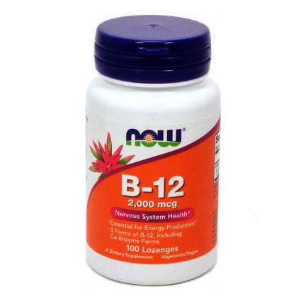 Instant Energy B-12 2000mcg by Now Foods - 100 Lozenges