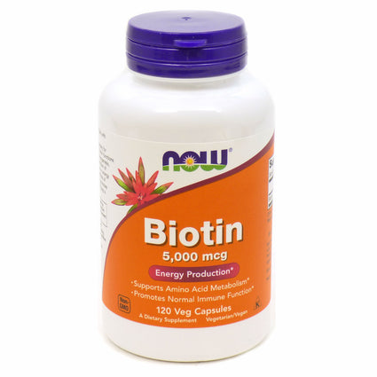 Biotin 5000 mcg by Now Foods 120 Vegetarian Capsules