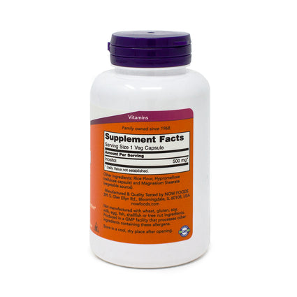 Now Foods Inositol Capsules 500 mg - 100 Capsules