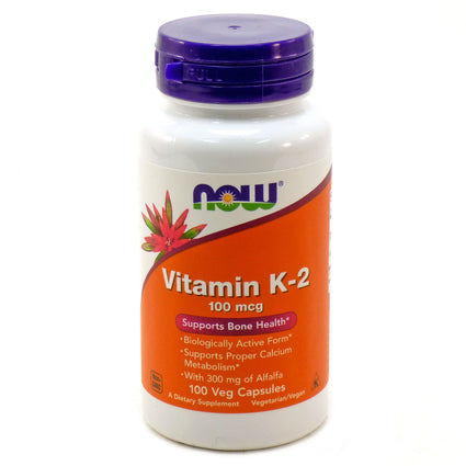 Vitamin K-2 100 mcg by Now Foods - 100 Vegetarian Capsules