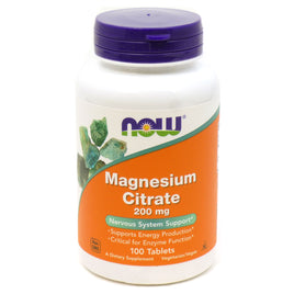 Magnesium Citrate 200 mg by Now Foods 100 Tablets