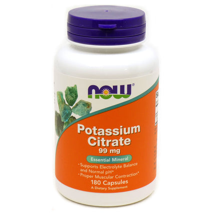 Potassium Citrate 99 mg By Now Foods - 180 Capsules