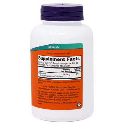 Potassium Chloride Powder By Now Foods - 8 Ounces