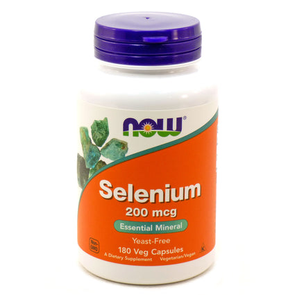 Selenium 200 mcg - Yeast Free by Now Foods 180 Capsules