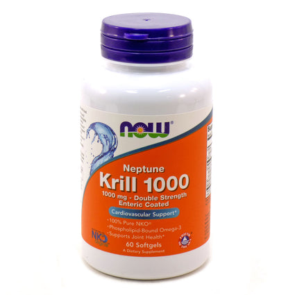 Neptune Krill Oil 1000mg By Now Foods - 60 Soft Gels